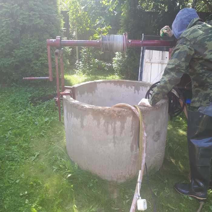 Чистка колодцев в Рузском районе