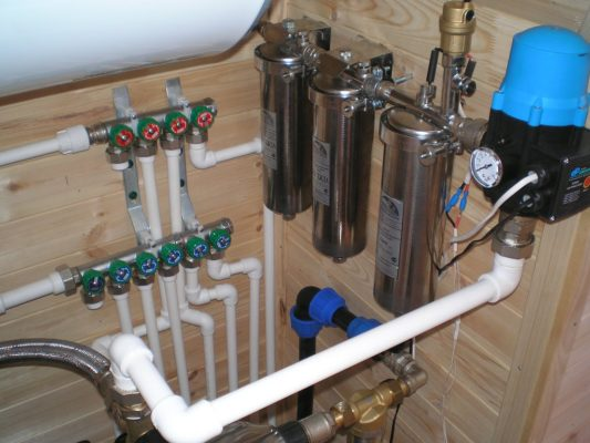 Зимний водопровод из колодца