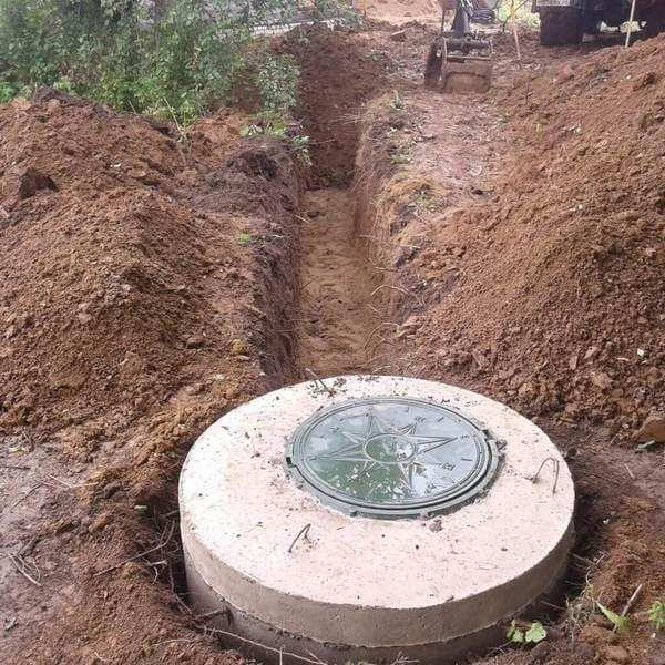 монтаж септика из бетонных колец в Волоколамском районе