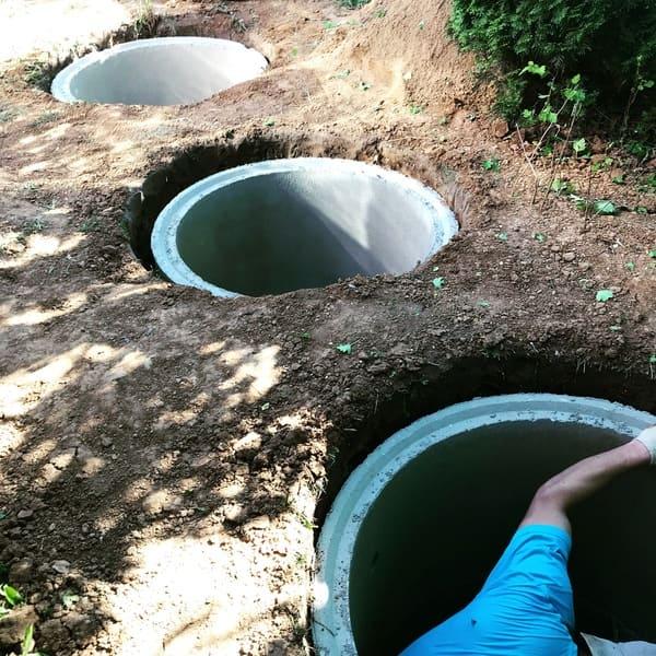 монтаж септиков из бетонных колец в Истринском районе
